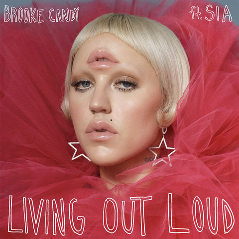 Living Out Loud Chords Brooke Candy, Sia Lyrics for Guitar Ukulele Piano Keyboard with Strumming Pattern on Capo.