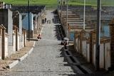 チベットの強制移住村、写真野田雅也