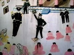 チベットの子供の絵「愛国教育」