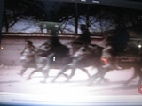 カムの騎馬デモ隊