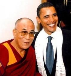 法王とオバマ氏