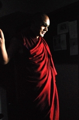 2008年10月25日ダラムサラTCV御訪問のカルマパ