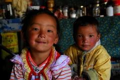キャンジン村の子供