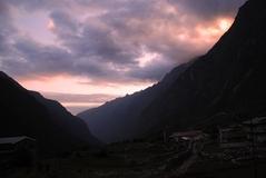 ランタン村の夕日