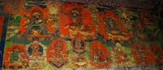 キャンジン・ゴンパ入口左、入口側の壁画