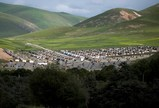 08年チベット 強制定住政策よる新しい村 写真・野田雅也