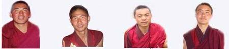解放されたマンラ、ルツァン僧院の僧侶たち