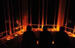 自宅のガンデン・ガムチュ(灯明祭)