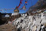 タモの仏塔。この横に検問所あり。