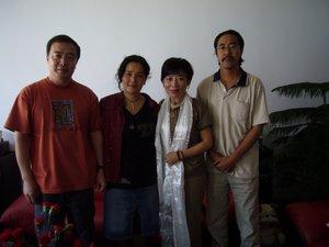 l-r, Wang Lixiong, Jamyang Kyi, Woeser, Lhamo Kyab