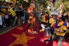 デリー、チベット人デモ