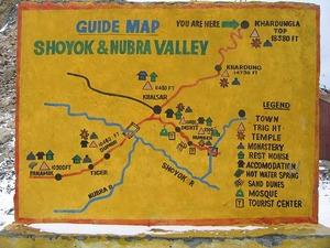 ヌブラ渓谷案内図