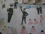 愛国再教育キャンペーン、難民一時収容所の子供たちの絵から