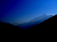 ドゥンチェよりランタンとチベットの山々