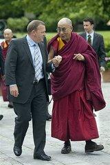 法王デンマーク首相と