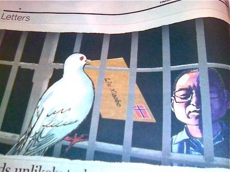 獄中の劉暁波氏へノーベル賞委員会より手紙が
