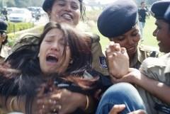 12.3.2010 デリー、チベット女性蜂起記念日のデモ