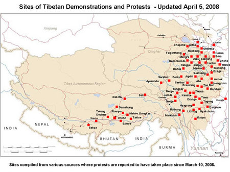 map of protest