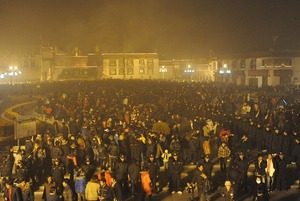 2008年のラサ灯明祭