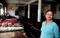 最近のサラムサラ難民一時収容所