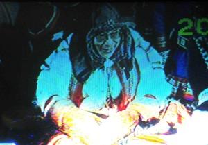 1989年 ノルウェーで法王がトナカイの橇に乗る