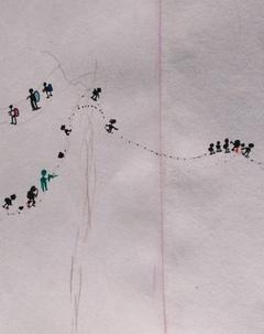 ナンパラ事件証人の子供が描いた絵