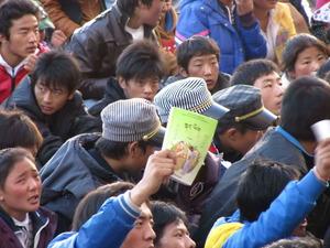 チベット青海省の学生デモ、チャプチャ10月20日