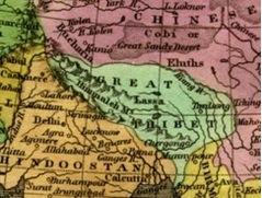 1829年の地図に描かれた「Great Tibet」