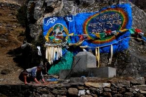 ナムチェの前の村の洗たく場