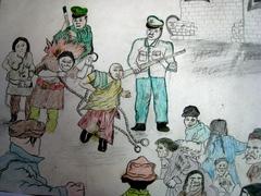 ダラムサラ難民一時収容所・子供の絵
