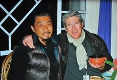 ルンタ・レストランで、リチャード・ギアと。