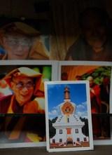 アーリヤの宿で見つけた自分が設計した仏塔の写真