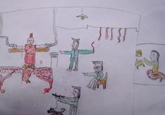 ダラムサラ難民一時収容所・子供の絵6