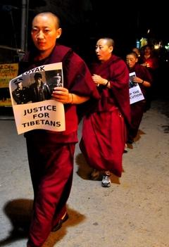 22.10.09 4人の死刑執行に抗議するデモと集会