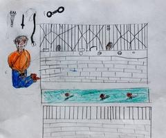 ジャミヤンの描いたシガツェ刑務所