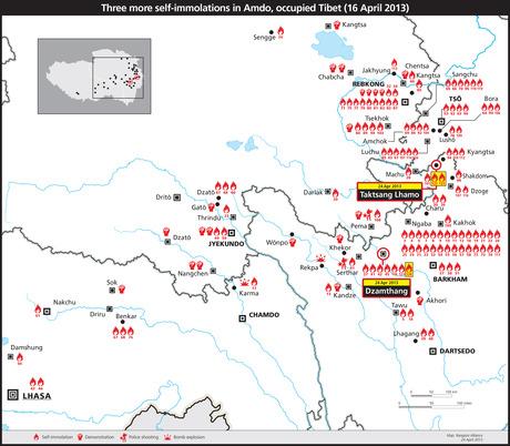 焼身発生地地図