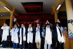 世界7カ国から集まった中国民主連盟の人々