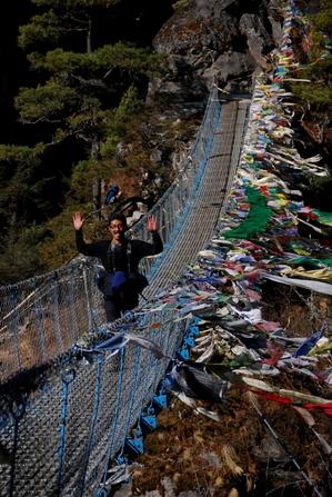 ナムチェの下の吊り橋