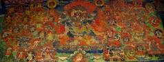 キャンジン・ゴンパ入口右手の壁画