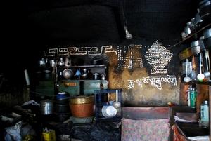 タモ尼僧院の厨房