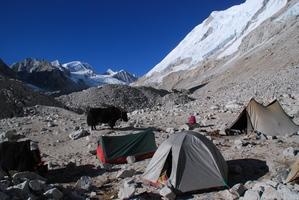 カンチュンのテント場、小さいのか私のテント