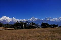 オーストリア・キャンプから見たアンナプルナ連峰