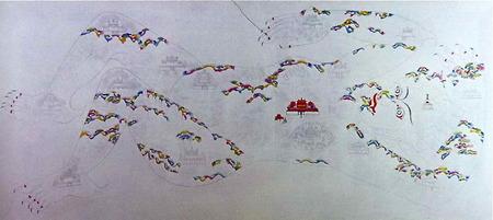 ペンパ・ワンドゥの「鎮魔図」3枚組の2枚目
