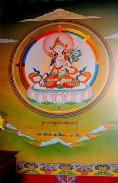 チョントラ、ゾンサル・ゴンパの壁画、白ターラ菩薩