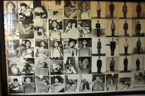 ツールスレン収容所で拷問の後殺された人々の写真