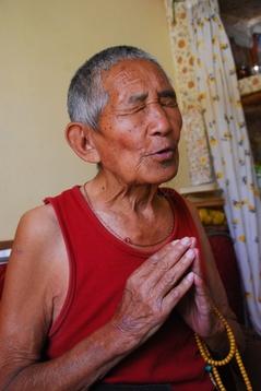 僧トゥプテン・ツェリン83歳2