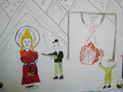 ダラムサラ難民一時収容所・子供の絵3