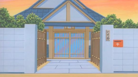 磯野家の門口