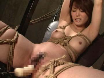 【エロ動画】七咲楓花、緊縛ドリルバイブ責め