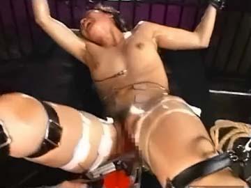 【エロ動画】美人アスリート、拘束ドリルバイブ責め